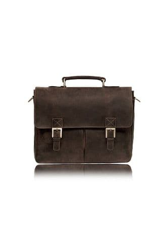 Leather Briefcase Brown& Tan:Berlin
